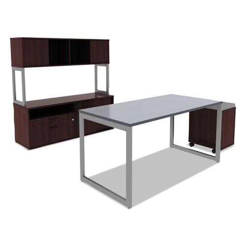 Alera Valencia Series Mobile Box/File Pedestal, 15.88w x 19.13d x 22.88h, Mahogany. Picture 5
