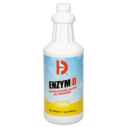 Enzym D Digester Liquid Deodorant, Lemon, 32oz, 12/Carton. Picture 1