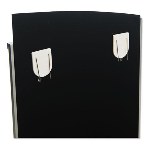 Interior Image Anti-Glare Sign Holder, Landscape, 8 1/2 x 2 Insert, Black/Silver. Picture 7
