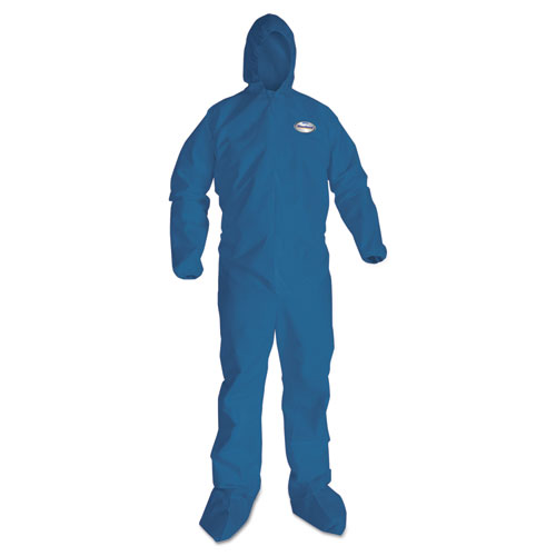 A20 Breathable Particle Protection Coveralls, X-Large, Blue, 24/Carton. Picture 1