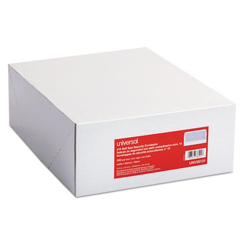 Self-Seal Business Envelope, #10, Square Flap, Self-Adhesive Closure, 4.13 x 9.5, White, 500/Box. Picture 2