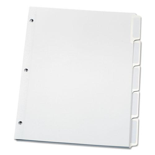 Custom Label Tab Dividers with Self-Adhesive Tab Labels, 5-Tab, 11 x 8.5, White, 5 Sets. Picture 4