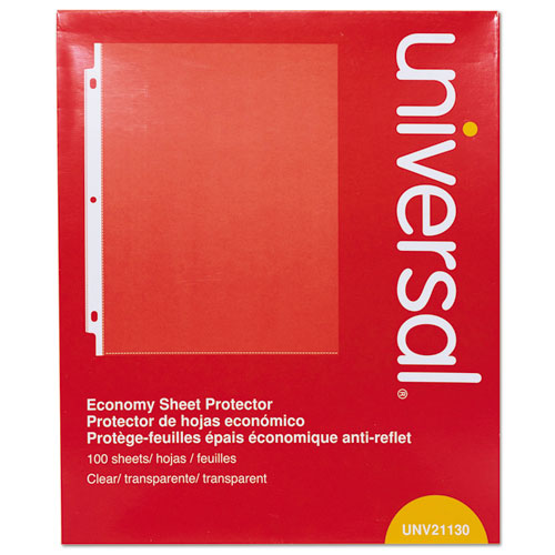 Top-Load Poly Sheet Protectors, Economy, Letter, 100/Box. Picture 1