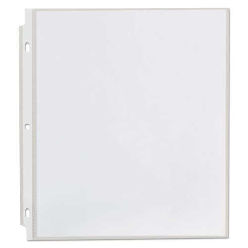 Top-Load Poly Sheet Protectors, Standard, Letter, Clear, 100/Box. Picture 3
