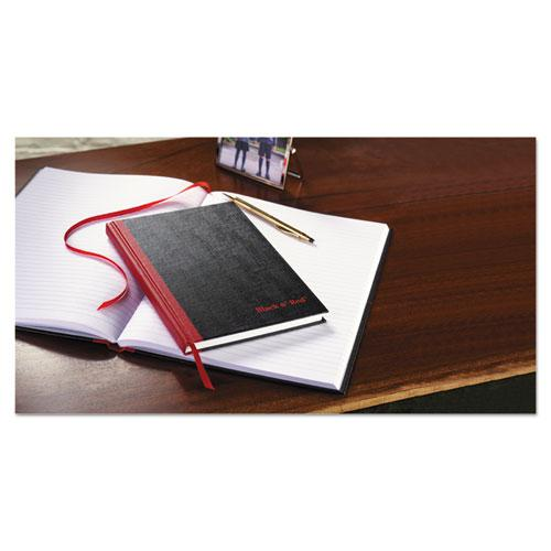 Casebound Notebooks, Wide/Legal Rule, Black Cover, 8.25 x 5.68, 96 Sheets. Picture 4