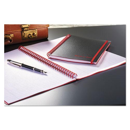 Twin Wire Poly Cover Notebook, Wide/Legal Rule, Black Cover, 5.88 x 4.13, 70 Sheets. Picture 2