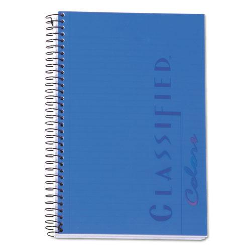 Color Notebooks, 1 Subject, Narrow Rule, Indigo Blue Cover, 8.5 x 5.5, 100 Sheets. Picture 1