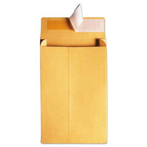 Redi-Strip Kraft Expansion Envelope, #10 1/2, Square Flap, Redi-Strip Closure, 9 x 12, Brown Kraft, 25/Pack. Picture 3