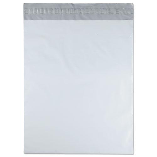 Redi-Strip Poly Mailer, #5 1/2, Square Flap, Redi-Strip Closure, 14 x 17, White, 100/Pack. Picture 3
