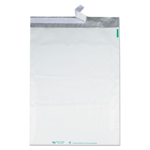Redi-Strip Poly Mailer, #6, Square Flap, Redi-Strip Closure, 14 x 19, White, 100/Pack. Picture 4
