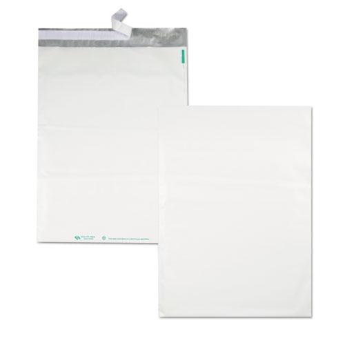 Redi-Strip Poly Mailer, #6, Square Flap, Redi-Strip Closure, 14 x 19, White, 100/Pack. Picture 5