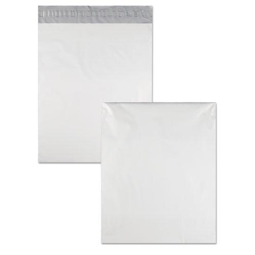 Redi-Strip Poly Mailer, #5 1/2, Square Flap, Redi-Strip Closure, 14 x 17, White, 100/Pack. Picture 4