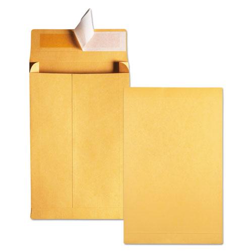 Redi-Strip Kraft Expansion Envelope, #10 1/2, Square Flap, Redi-Strip Closure, 9 x 12, Brown Kraft, 25/Pack. Picture 4
