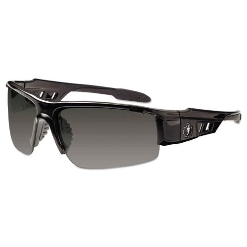 Skullerz Dagr Safety Glasses, Black Frame/Smoke Lens, Nylon/Polycarb