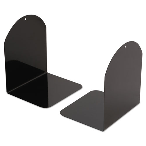 Magnetic Bookends, 6 x 5 x 7, Metal, Black. Picture 1