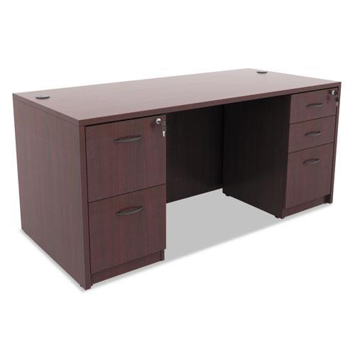 Alera Valencia File/File Drawer Full Pedestal, 15.63w x 20.5d x 28.5h, Mahogany. Picture 3