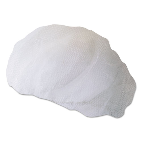 Disposable Hairnets, Nylon, Large, White, 100/Pack. Picture 1