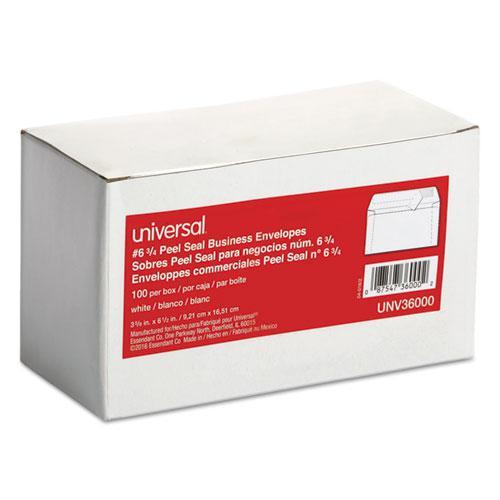 Peel Seal Strip Business Envelope, #6 3/4, Square Flap, Self-Adhesive Closure, 3.63 x 6.5, White, 100/Box. Picture 2