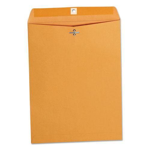 Kraft Clasp Envelope, #93, Square Flap, Clasp/Gummed Closure, 9.5 x 12.5, Brown Kraft, 100/Box. Picture 5