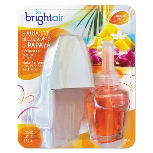 Electric Scented Oil Air Freshener Warmer and Refill Combo, Hawaiian Blossoms and Papaya. Picture 2