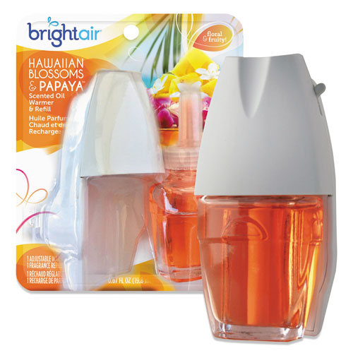 Electric Scented Oil Air Freshener Warmer and Refill Combo, Hawaiian Blossoms and Papaya. Picture 1