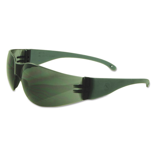 Safety Glasses, Gray Frame/Gray Lens, Polycarbonate, Dozen. Picture 1