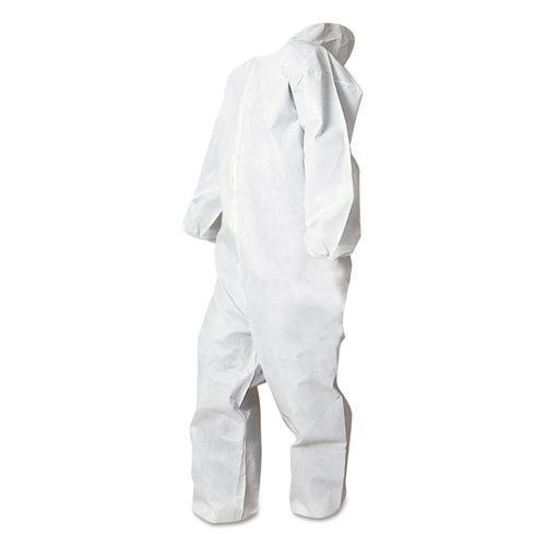 Disposable Coveralls, White, Large, Polypropylene, 25/Carton. Picture 1