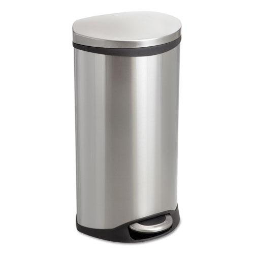 Step-On Medical Receptacle, 7.5 gal, Stainless Steel. Picture 1