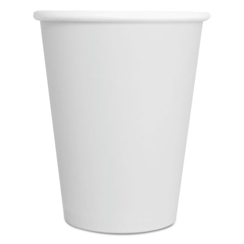Convenience Pack Paper Hot Cups, 8 oz, White, 9 Cups/Sleeve, 34 Sleeves/Carton. Picture 1