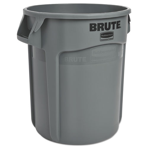Round Brute Container, Plastic, 20 gal, Gray. Picture 1