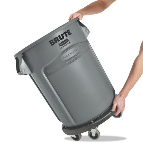 Round Brute Container, Plastic, 20 gal, Gray. Picture 2