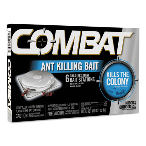 Combat Ant Killing System, Child-Resistant, Kills Queen and Colony, 6/Box. Picture 1