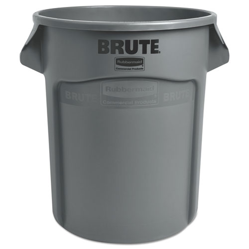 Round Brute Container, Plastic, 20 gal, Gray. Picture 3