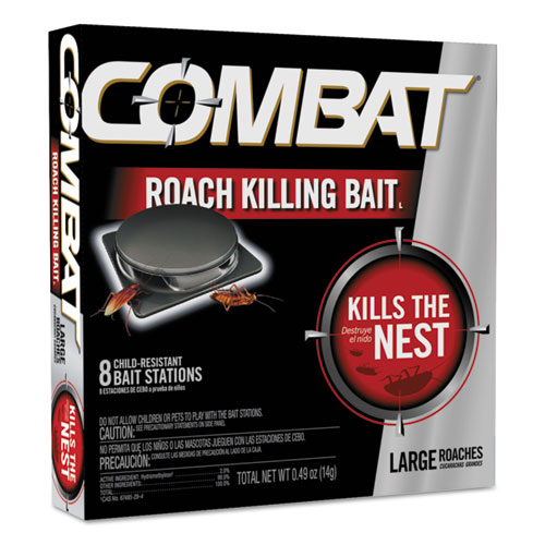 Source Kill Large Roach Killing System, Child-Resistant Disc, 8/Box. Picture 1