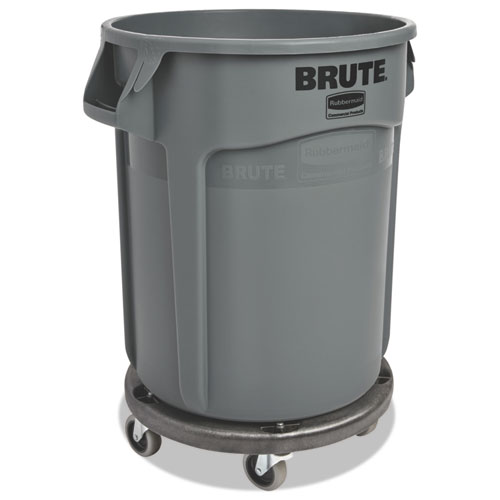 Round Brute Container, Plastic, 20 gal, Gray. Picture 4