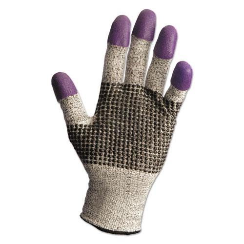 G60 Purple Nitrile Gloves, 240 mm Length, Large/Size 9, Black/White, Pair. Picture 1