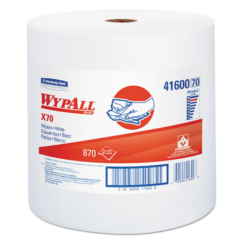 X70 Cloths, Jumbo Roll, Perf., 12 1/2 x 13 2/5, White, 870 Towels/Roll. Picture 1