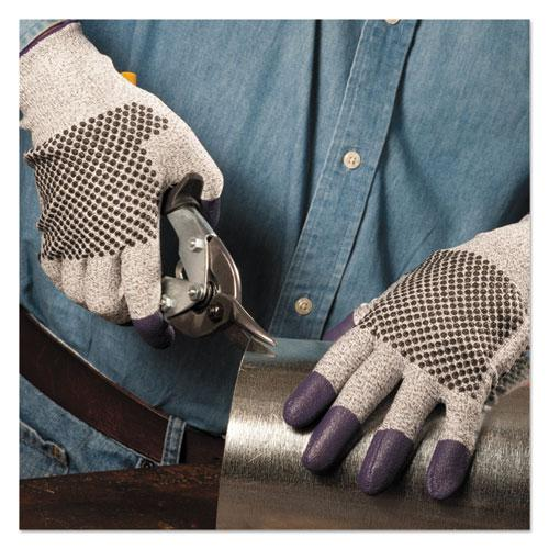 G60 Purple Nitrile Gloves, 240 mm Length, Large/Size 9, Black/White, Pair. Picture 2