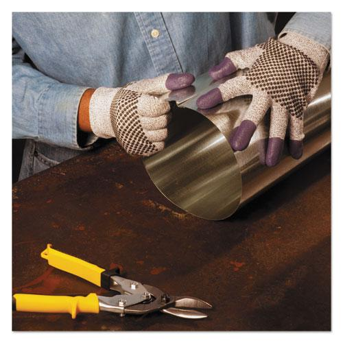 G60 Purple Nitrile Gloves, 240 mm Length, Large/Size 9, Black/White, Pair. Picture 3