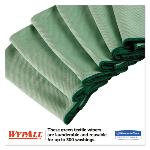 Microfiber Cloths, Reusable, 15 3/4 x 15 3/4, Green, 6/Pack. Picture 4