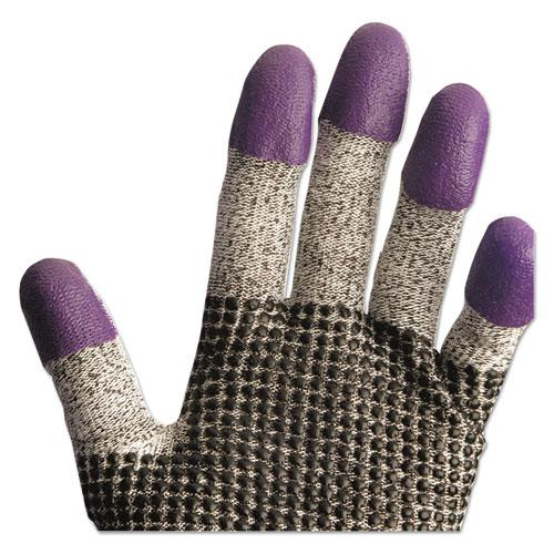 G60 Purple Nitrile Gloves, 240 mm Length, Large/Size 9, Black/White, Pair. Picture 7