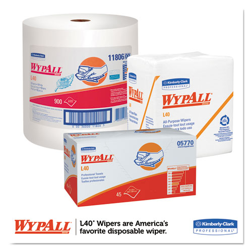 """L40 Towels, Dry Up Towels, 19 1/2"""" x 42"""", White, 200 Towels/Roll. Picture 2"""