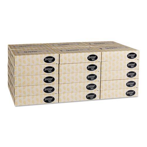 Facial Tissue, 2-Ply, White, Flat Box, 100 Sheets/Box, 30 Boxes/Carton. Picture 5