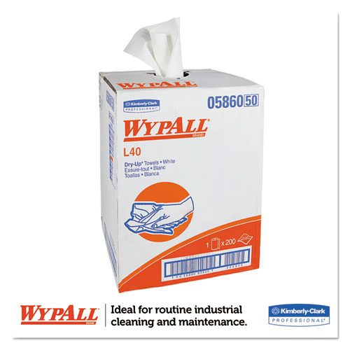 """L40 Towels, Dry Up Towels, 19 1/2"""" x 42"""", White, 200 Towels/Roll. Picture 4"""