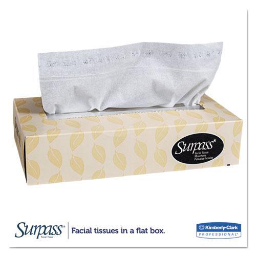 Facial Tissue, 2-Ply, White, Flat Box, 100 Sheets/Box, 30 Boxes/Carton. Picture 7