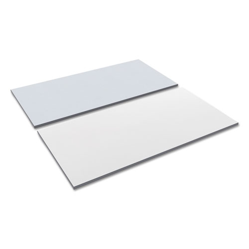 Reversible Laminate Table Top, Rectangular, 59 3/8w x 29 1/2d, White/Gray. Picture 1