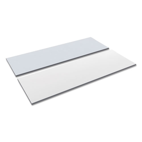 Reversible Laminate Table Top, Rectangular, 71 1/2w x 23 5/8d, White/Gray. Picture 1
