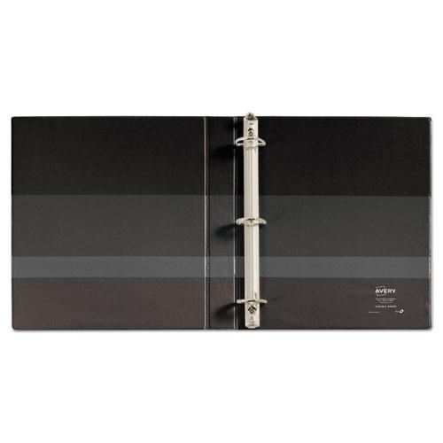 """Durable View Binder with DuraHinge and EZD Rings, 3 Rings, 1"""" Capacity, 11 x 8.5, Black, (9300). Picture 3"""