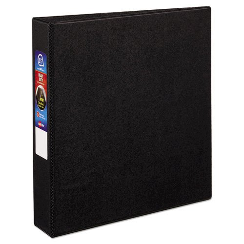 "Heavy-Duty Non-View Binder with DuraHinge and One Touch EZD Rings, 3 Rings, 1.5"" Capacity, 11 x 8.5, Black. Picture 7"