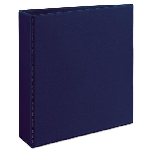 """Heavy-Duty View Binder with DuraHinge and One Touch EZD Rings, 3 Rings, 2"""" Capacity, 11 x 8.5, Navy Blue. Picture 3"""